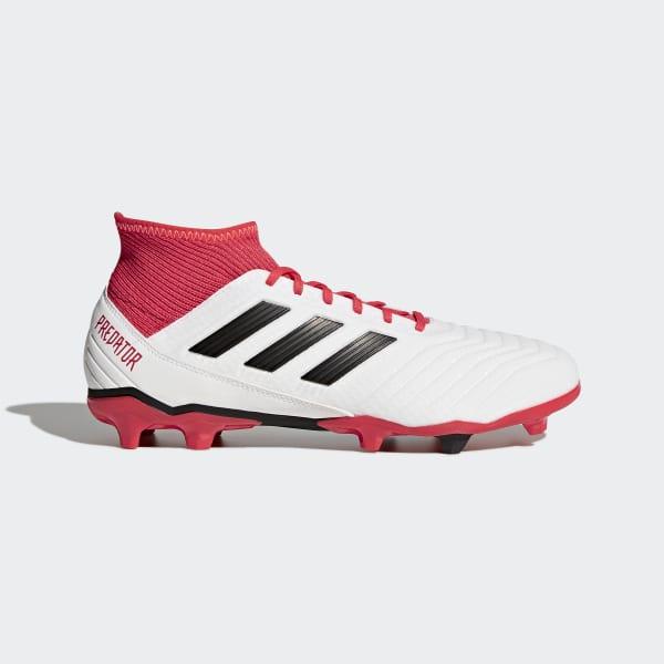 0496137acfd9 adidas Predator 18.3 Firm Ground Boots - White