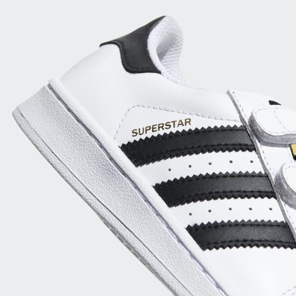 b6751407c adidas Tenis Superstar Foundation Velcro Niños - Blanco