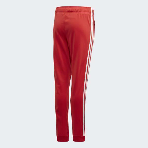Adidas Spodnie Dresy Treningowe Sportowe Czarne Czerwone