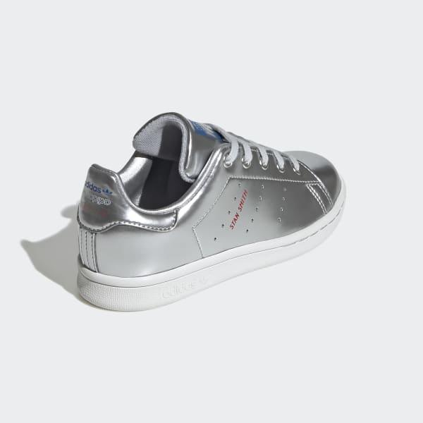 adidas stan smith glitter silver