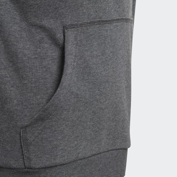 6cc3b8830d3 Blusa Capuz Essentials Logo - Cinza adidas