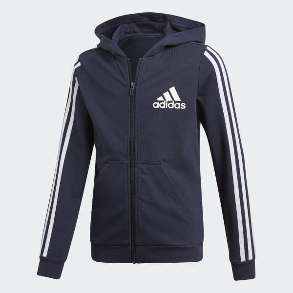 adidas Hooded Trainingsanzug blau Online Outlet Deustchland
