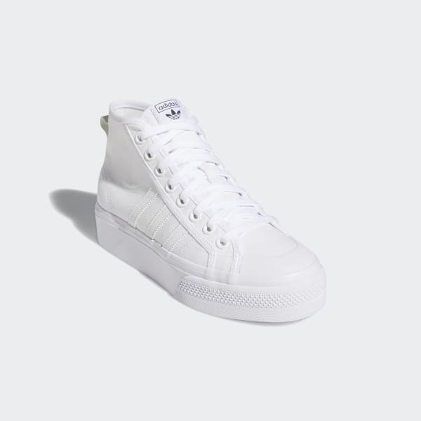 Apariencia Volver a disparar sentido común  adidas Nizza Platform Mid Shoes - White   adidas US