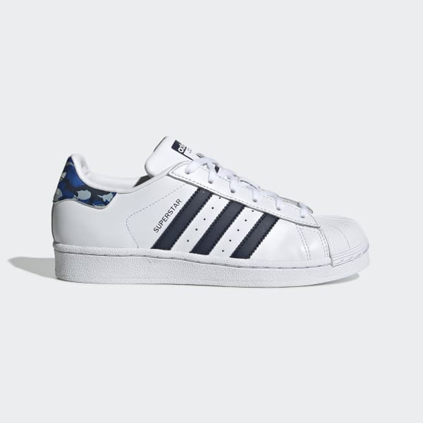 Kids Superstar Cloud White and Navy