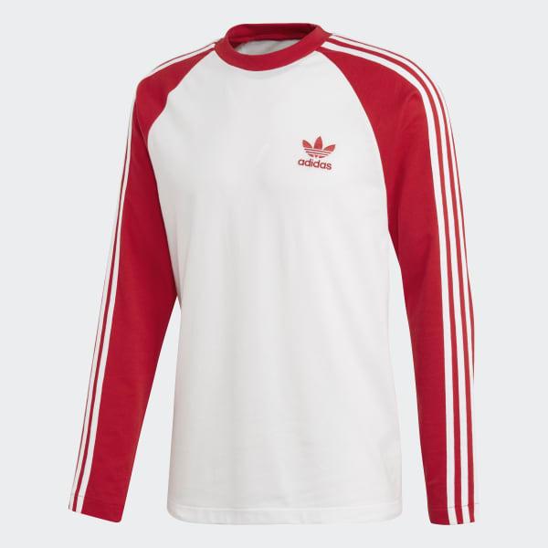 Camiseta 3-Stripes - Vermelho adidas  8b53dc41f2567