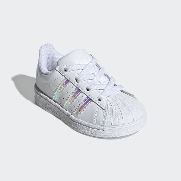 Además borde Sembrar  Toddler Superstar Cloud White Iridescent Shoes | adidas US
