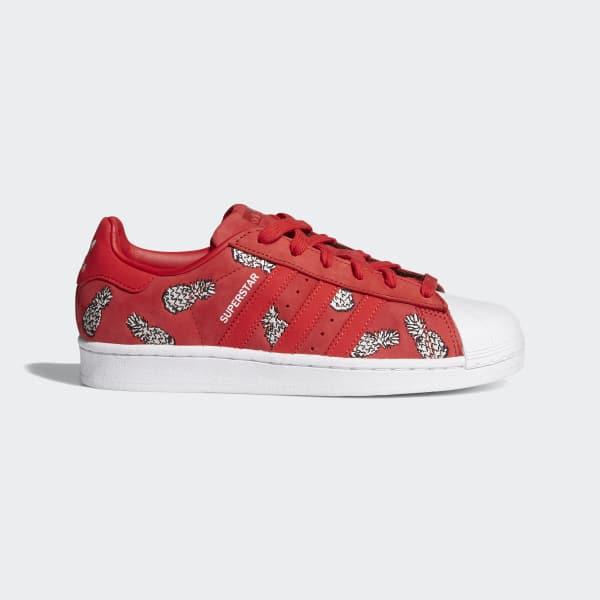 0c1f22c92b3 adidas Tenis Superstar W - Rojo