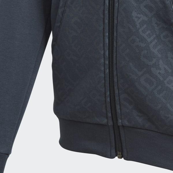 57bdc7daa7fe6 Chaqueta con capucha Real Madrid - Gris adidas