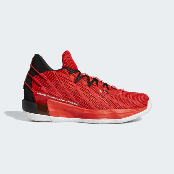 adidas Dame 7 Shoes - Red | adidas