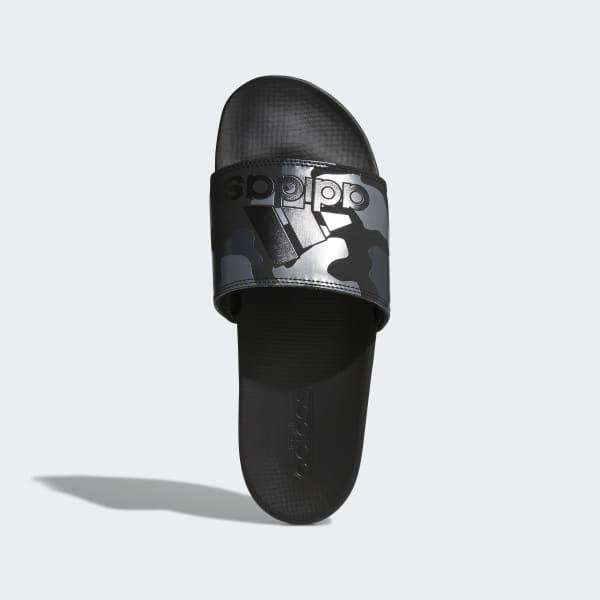 reputable site 73173 59d33 adidas Adilette Cloudfoam Plus Graphic Slides - Black  adida