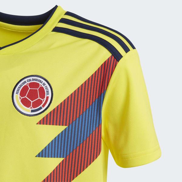0675b3d212a8f adidas Jersey Oficial Selección de Colombia Local Niño 2018 - Amarillo