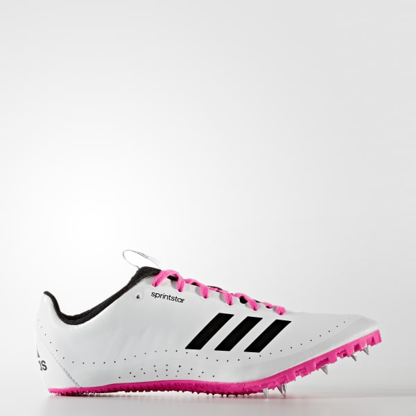 Size 7 Womens Adidas SprintStar track shoes W Running Spikes White Pink BB5751