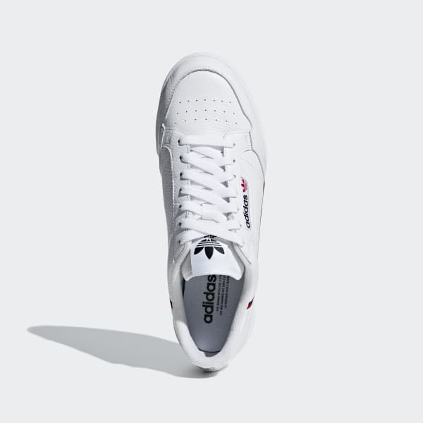 Chaussures Continental 80 blanches et rouges   adidas France