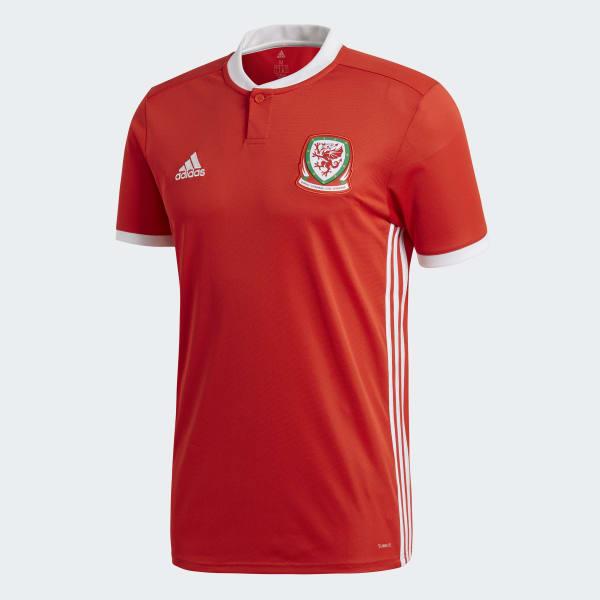 f1c362112f915 adidas Jersey Oficial Selección de Gales Local 2018 - Rojo