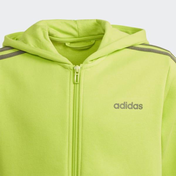 Veste à capuche à 3 bandes Essentials Vert adidas | adidas