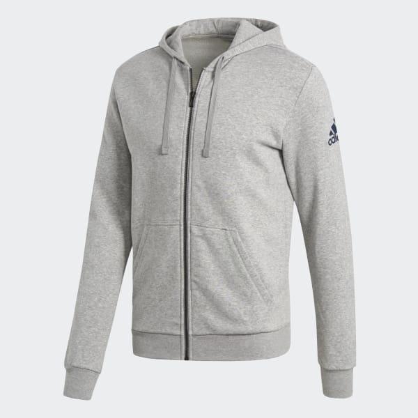 6f36889581a Blusa Capuz Essentials Base Fleece - Cinza adidas