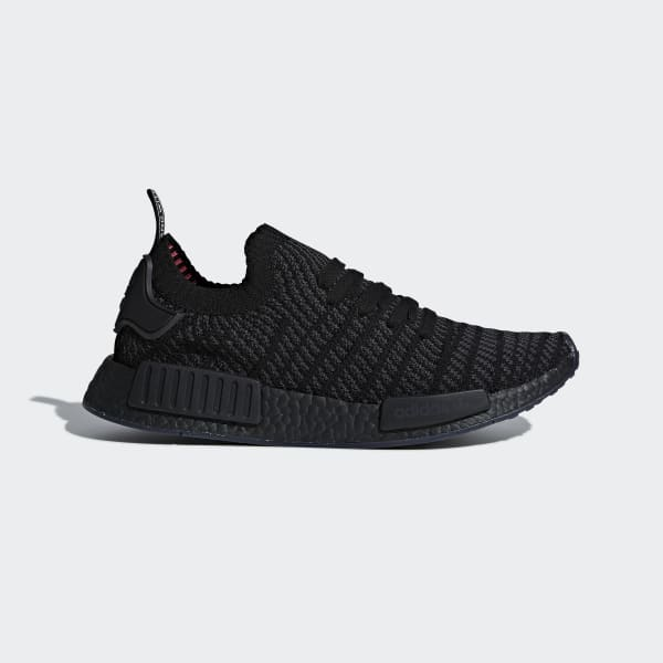 adidas Originals NMDR1 STLT PK PrimeKnit Core Black Men Running Shoes CQ2391