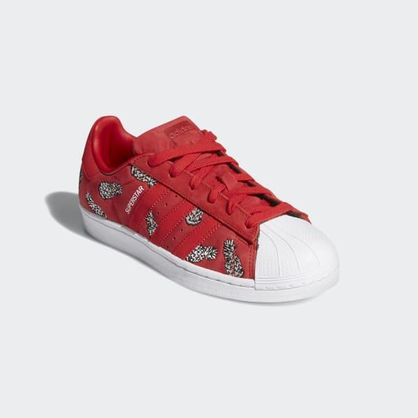 Superstar Scarlet Suede Shoes   adidas