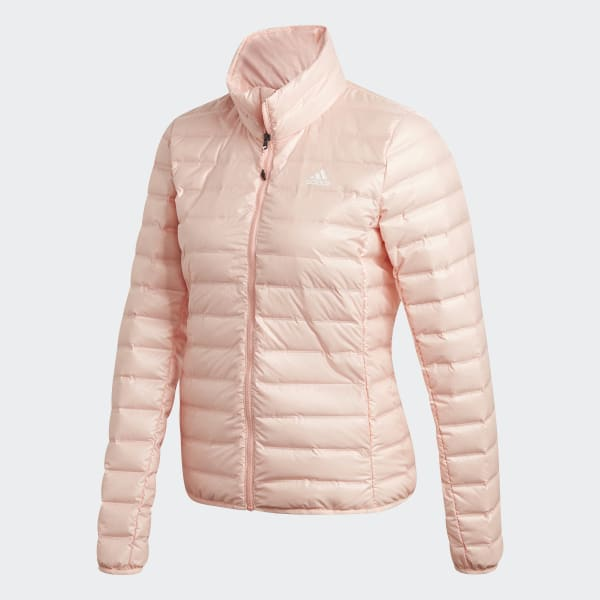 ADIDAS Daunenjacke mit Kapuze Modell 'Varilite' in Rosé