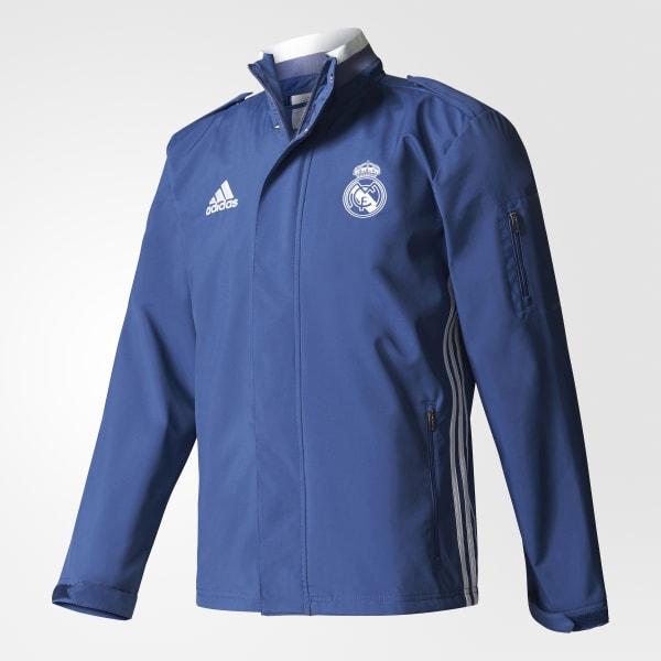 Chaqueta Real Madrid Travel - Azul adidas  2b8b97709ac90