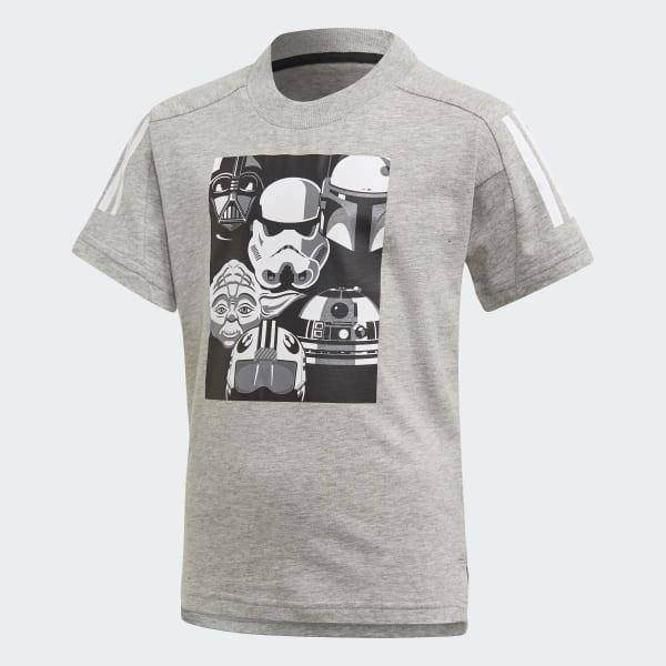 precio loco estética de lujo gran venta de liquidación Camiseta Star Wars - Cinza adidas   adidas Brasil
