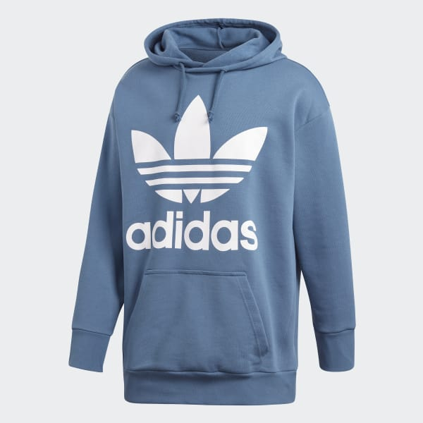 47dbb9c8949 adidas Mikina Trefoil Oversize Hoodie - modrá