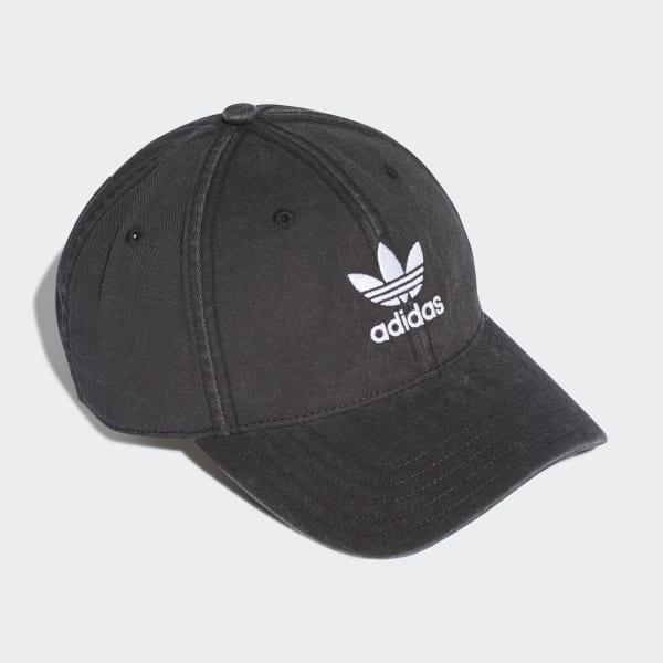 135d0441cc2a3 Gorra Washed Adicolor - Negro adidas