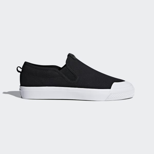 adidas Nizza Slip-on Shoes - Black | adidas US | Tuggl