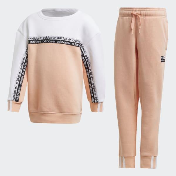 adidas Комплект: джемпер и брюки Crew - розовый | adidas Россия