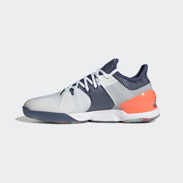 Adidas Adizero Ubersonic 2.0 OrangeHvite | Adidas Sko Herre