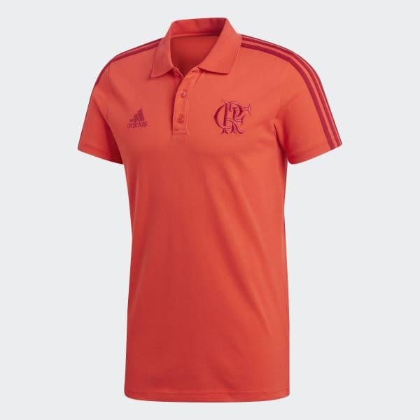 Camisa Polo 3-Stripes CR Flamengo - Vermelho adidas  4b66000e52074