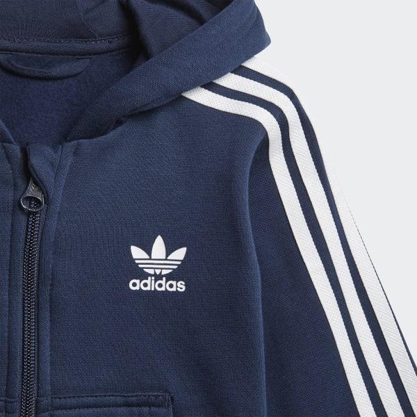 Survêtement Trefoil Full Zip Hoodie Bleu Adidas Adidas France