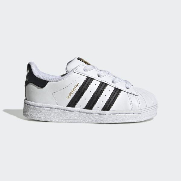 Hvit og svart Adidas Superstar sko