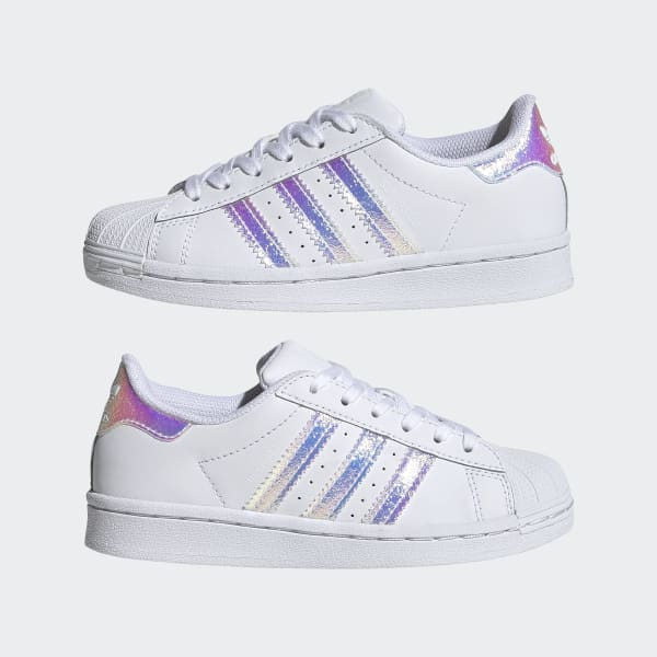 Kids Superstar Cloud White Iridescent Shoes | FV3147 | adidas US