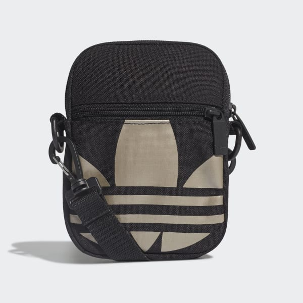 Bolsa adidas Originals Shoulder Bag Fest Trefoil Preta