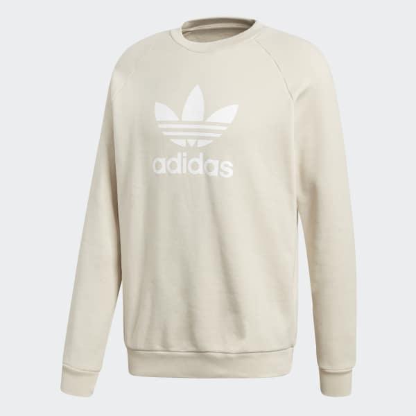 35f8b1dad612 adidas Trefoil Crewneck Sweatshirt - Beige