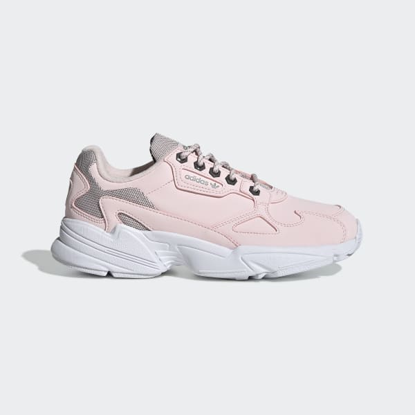 adidas falcon rose et blanche