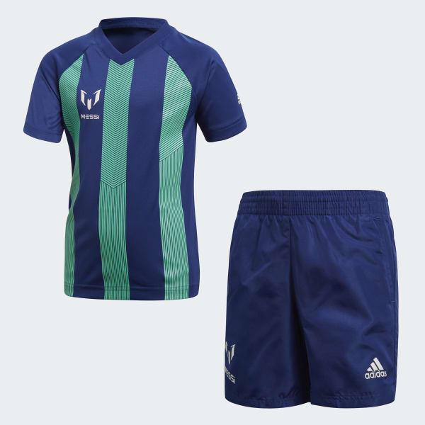 adidas Conjunto Messi - Azul  f8bd50f43e04d