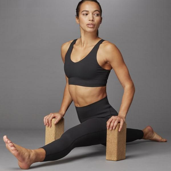 adidas Cozy Yoga Bra - Black   adidas