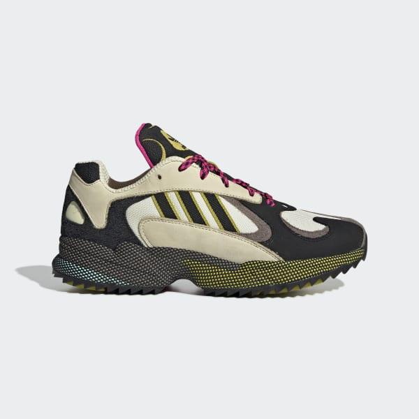 Neue Adidas Falcon Core Schwarz Schock Gelb Schuhe Weiß