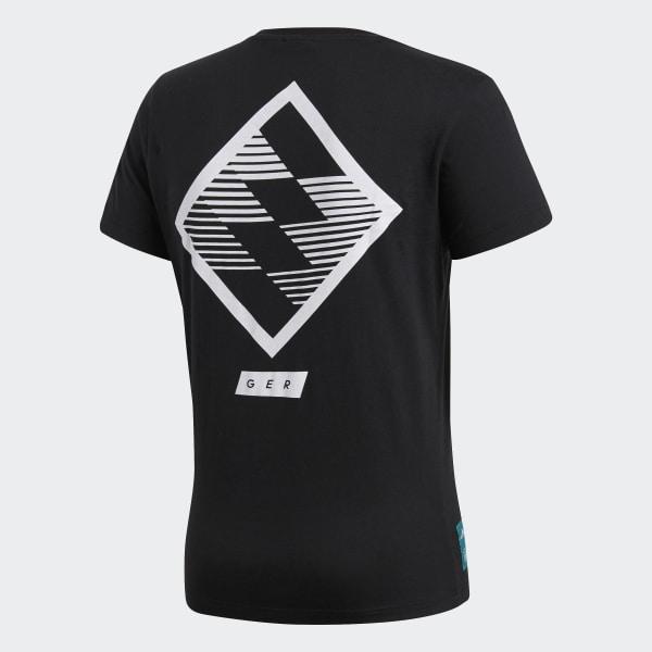 2a3829f620 Camiseta Estampada Street Alemanha 2018 - Preto adidas