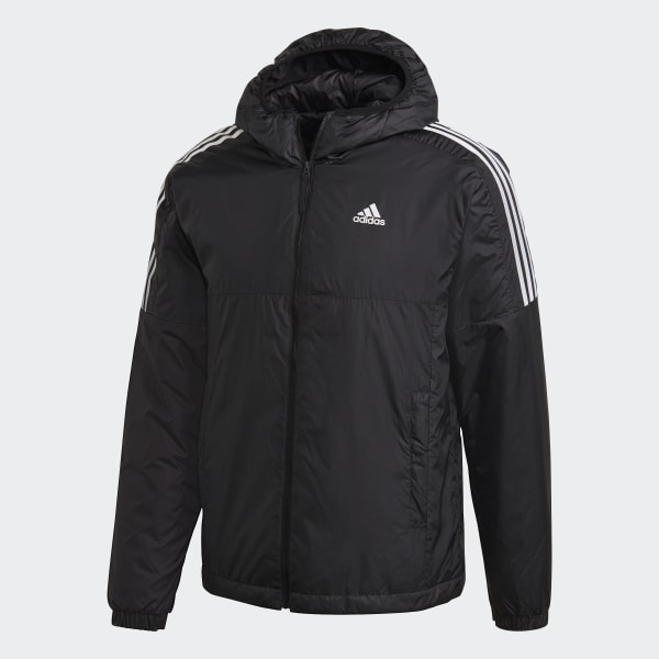 adidas Essentials Insulated Hooded Jacke Schwarz | adidas
