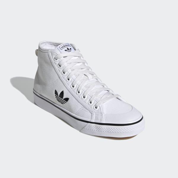 Nizza Hi Cloud White and Core Black Shoes | FW8351 | adidas US