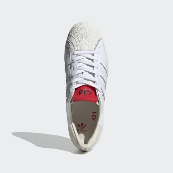 adidas 424 Shell-Toe Shoes - White