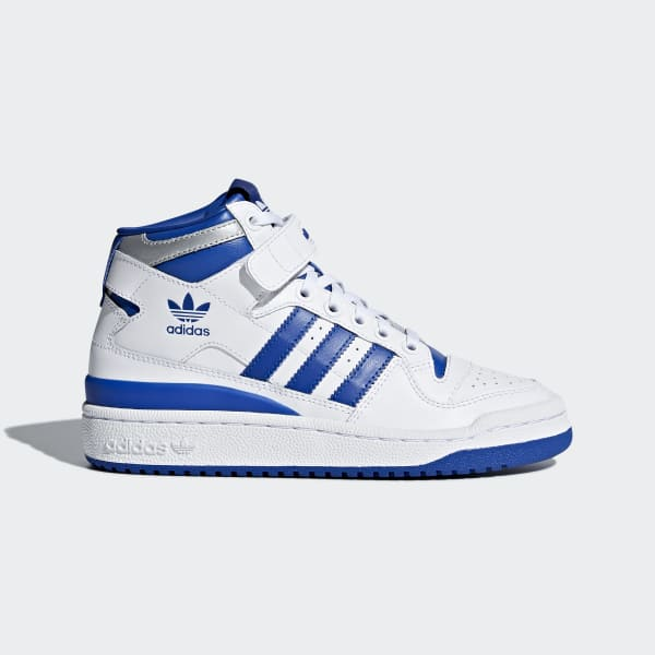 Chaussures Adidas Forum Mid Refined Haute Homme Blanche