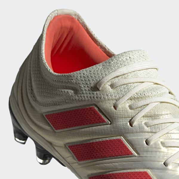 7ef64435fc91d Bota de fútbol Copa 19.1 césped natural seco - Blanco adidas ...