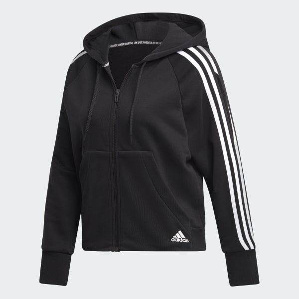 adidas Womens Must Haves Hooded Long Sleeve Tracksuit Jacket