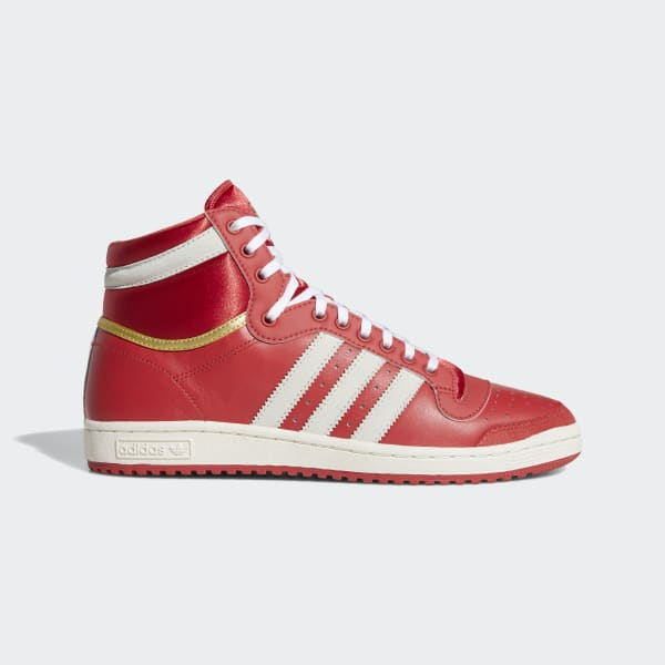 adidas high tops red and gold