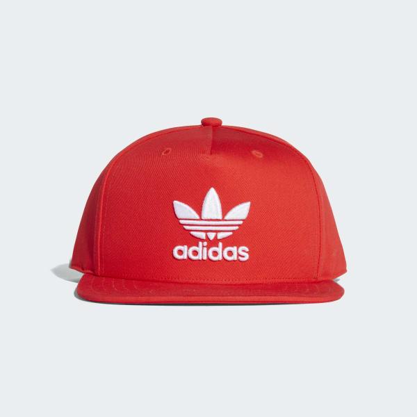 adidas Trefoil Snap-Back Cap - Red  afe7255eedb