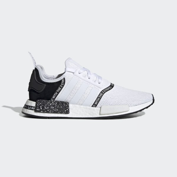 Men's NMD R1 Cloud White and Black